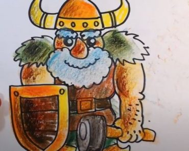 How to draw a Viking step by step for beginners