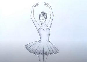 How to draw a dancing gir easy for beginners