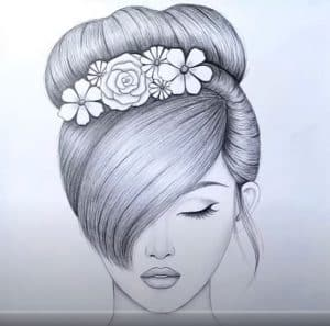 How to draw a girl with BEAUTIFUL hair style by pencil