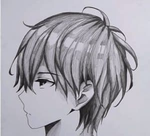 How to draw anime boy face for beginners