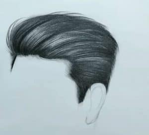 How to draw boy hair step by step