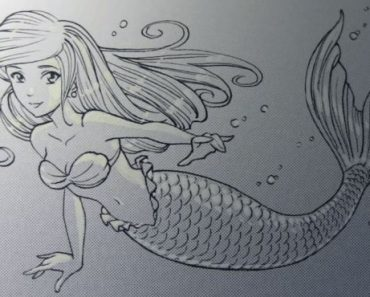Mermaid Pencil Drawing easy for beginners