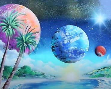AMAZING OASIS SPACE - SPRAY PAINT ART