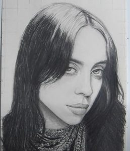 Billie Eilish Drawing Easy Step By Step