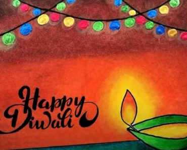Diwali Drawing Tutorial Easy with Oil Pastel