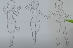 How to Draw Anime Poses Step By Step