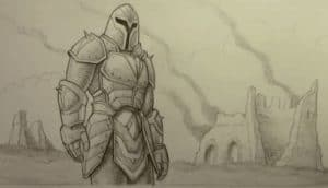 How to Draw Armor Step by step