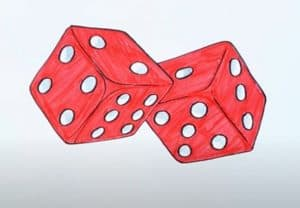 How to Draw Dice Step By Step