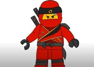 How to Draw Kai from Ninjago Step By Step