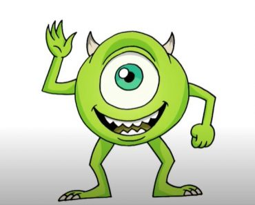 How to Draw Mike Wazowski from Monsters Inc