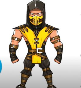 How to Draw Scorpion from Mortal Kombat