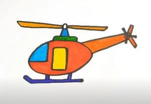 How to Draw a Helicopter Step by Step