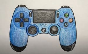 How to Draw a PS4 Controller
