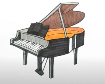 How to Draw a Piano Step By Step