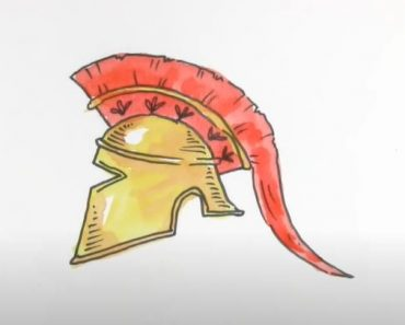 How to Draw a Spartan Helmet Step by Step