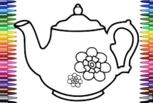 How to Draw a Tea Pot Step by Step