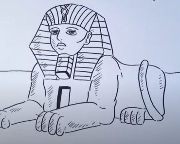 How to Draw the Sphinx Step by step