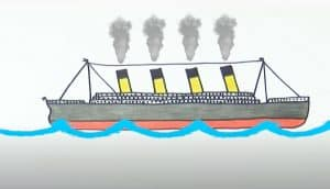 How to Draw the Titanic Step by step for beginners