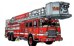 How to draw a Fire Truck Step by step
