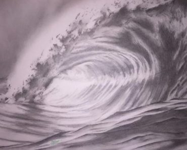 How to draw ocean waves Step by step