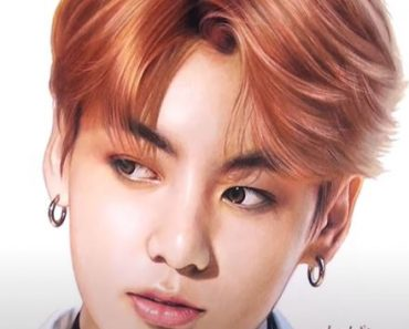 Jungkook from K-pop group BTS Drawing