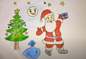 Happy Christmas Drawing For Beginners - Santa Claus Drawing
