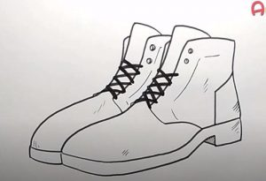 How to Draw a Boots step by step