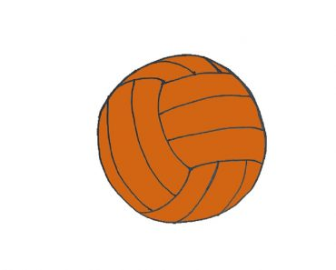 How to Draw a Volleyball easy