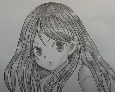 How to draw Manga Girl with Pencil - Anime girl drawing for Beginners