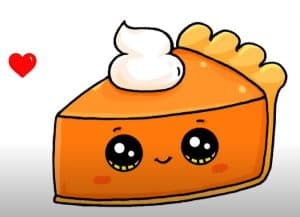 How to draw Pumpkin Pie Step by step