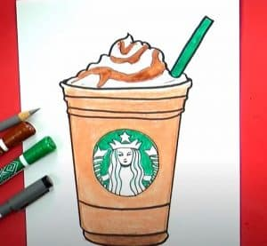 How to draw a Frappuccino Step by Step
