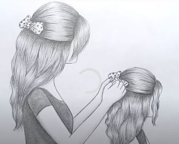 Mother's Day Drawing with Pencil sketch Step by step