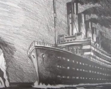 Titanic Drawing step by step - Titanic Ship Pencil Sketch For Beginners