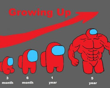 AMONG US Growing Up Evolution