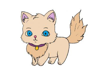 Cute Kitten Drawing Easy For Beginners