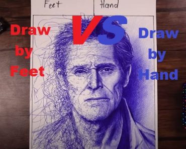Draw By Feet VS Draw By Hand