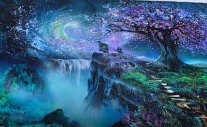 Fantasy landscape - Spray Painting 2020