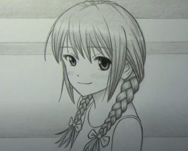 How to Draw Braids Step by Step - Anime Girl Drawing