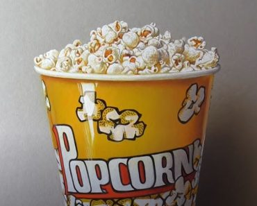 How to Draw Popcorn easy with pencil