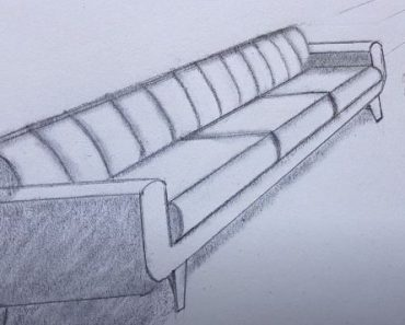 How to Draw a Couch Step By Step