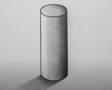 How to Draw a Cylinder Step By Step