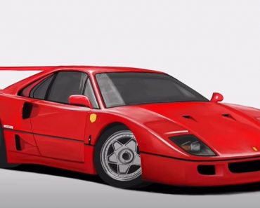 How to Draw a Ferrari f40 Step by Step - Car Drawing Tutorial