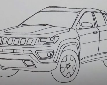 How to Draw a Jeep step by step - Car drawing easy