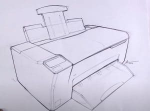 How to Draw a Printer Step by Step