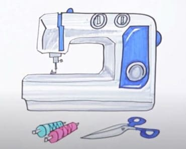 How to Draw a Sewing Machine Step by Step