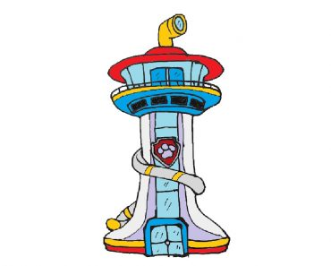 How to draw Paw Patrol Lookout Tower
