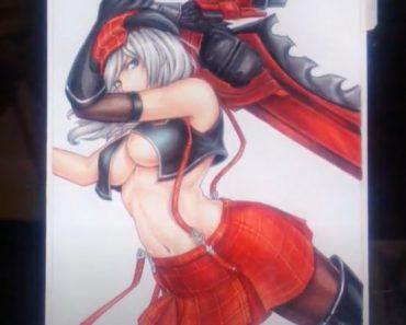 How to draw a hot anime girl - Alisa Ilinichina Drawing