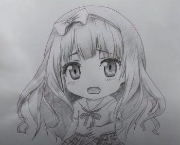 How to draw manga Girl cute and easy