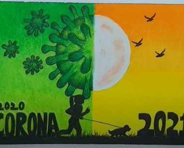 New Year 2021 Drawing Very Easy by Using Oil Pastel Colours