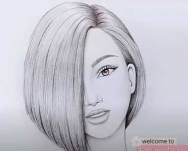Short hair Girl Drawing with pencil for Beginners